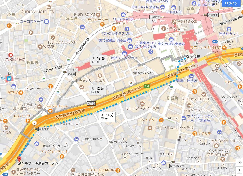 ベルサール渋谷地図